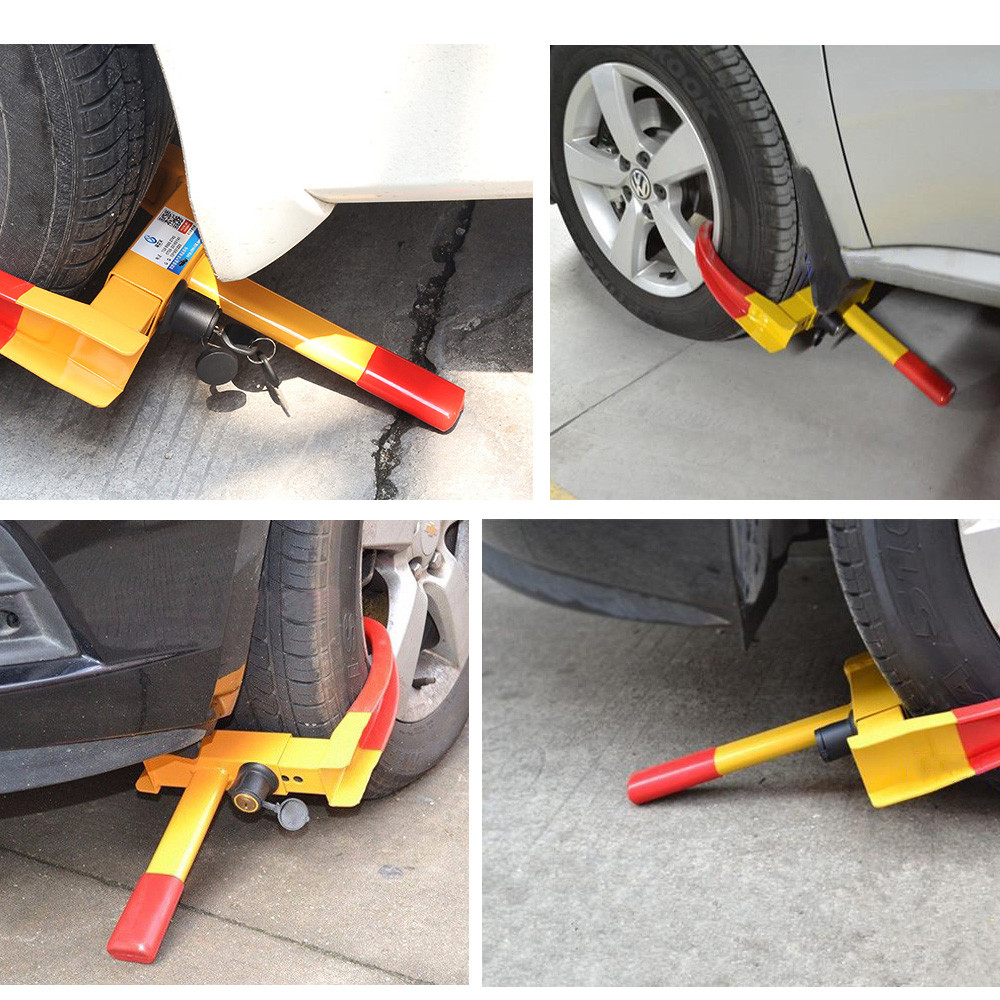 upgrade Heavy Duty Anti Theft Protective Car Wheel Lock Security Tire Clamp Universal fitment with 2
