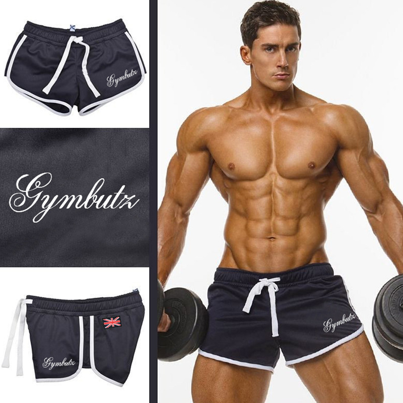 Gyms Fitness Bodybuilding Men Shorts Bermuda Summer Mens Workout Jogger Spliced Breathable Mesh Quick Dry Beach Shorts