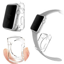 Watches Accessories For Apple Watch Case TPU Screen Protector Hd Clear Ultra-thin For iWatch 4 3 2 1Cover 38 42 40 44mm(China)