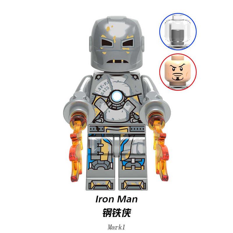 Blocos de Construção do modelo do Homem de Ferro MARK 1 Coleção War Machine Super Heroes Tijolos Brinquedos Figuras de Ação Para O Presente Dos Miúdos XH1215