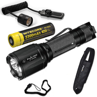 Fenix TK25 UV 1000 Lumens white/3000mW ultra violet (UV) Dual Beam LED Flashlight (TK25UV) with 2300mAh battery Pressure Switch
