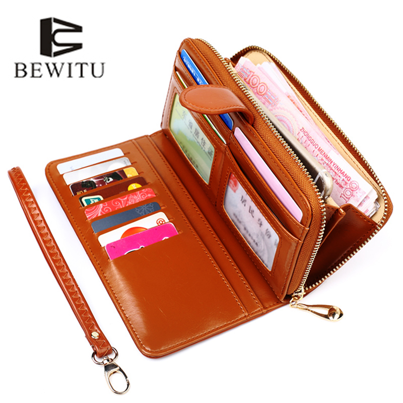 BEWITU Hot Sale Women Clutch 2018 New Wallet Split Wallet Female Long Wallet Women Zipper Purse Strap Coin Purse For Phone yuanyu 2018 new hot free shipping python leather women purse female long women clutches women wallet more screens women wallet