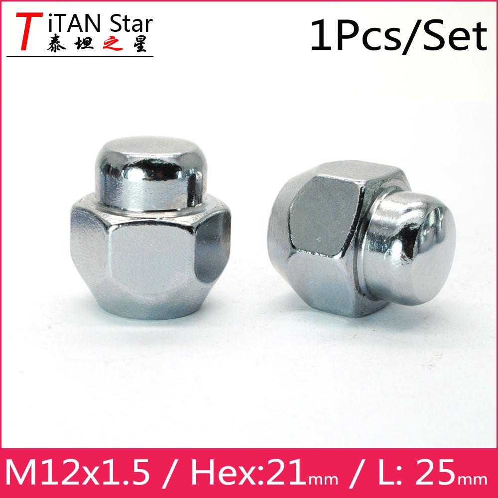 1 X M14X1.5 19m HEAD OPEN END ALLOY WHEELS NUTS FITS LAND RANGE ROVER LIST