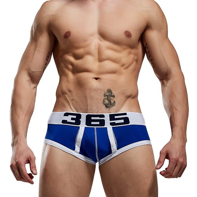 Bshetr Soft Intimo Uomo Slip cotone maschio Mutandine Slip Pantaloni cueca.