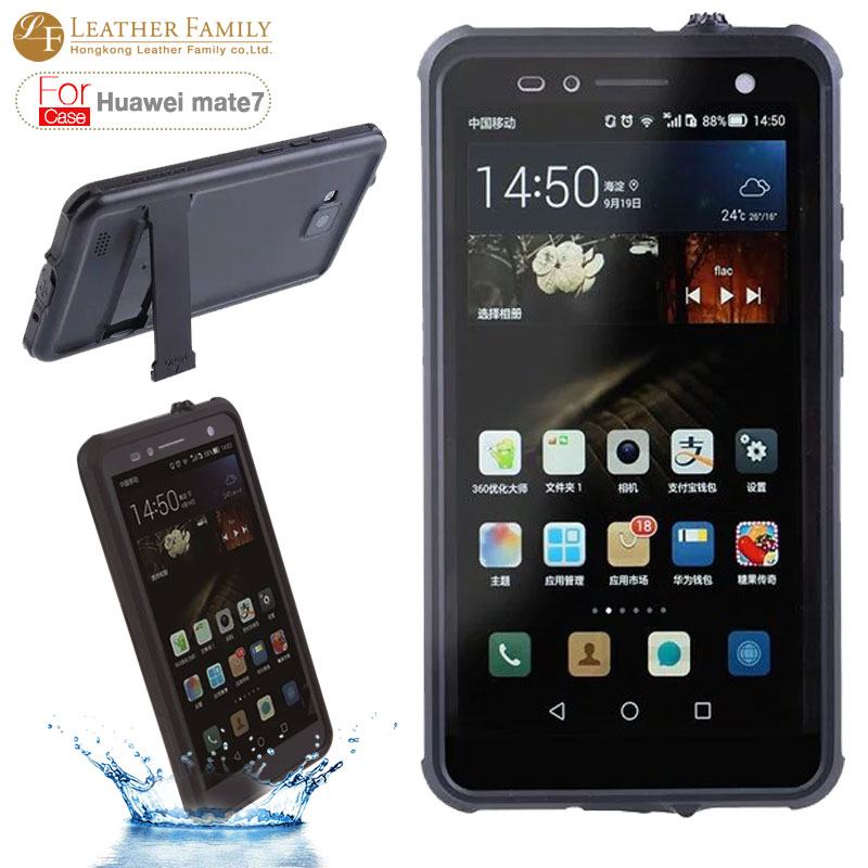 best website aad80 c3ea8 US $12.99 |Original For Huawei Ascend Mate 7 Waterproof case life water  Proof Diving Protection case for huawei mate7 cover with stand new on ...