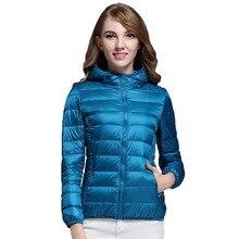 2018 New Casual 90% Ultra Light White Duck Down Jacket Women Autumn Winter Warm Coat Lady Plus Size Jackets Female Hooded Parka