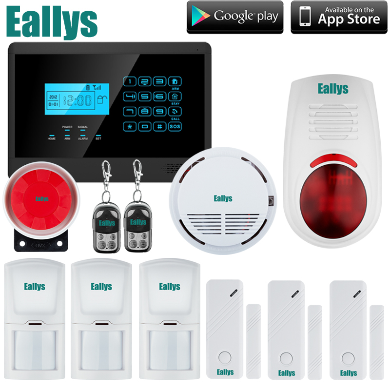 US $133 65 19% OFF|Free Shipping Wireless GSM Home Alarm System, Touch  Panel, SMS Alerts, 850/900/1800/1900MHz-in Alarm System Kits from Security  &