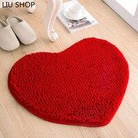 Liu chenille love heart carpet mat drzwi sypialnia salon foyer łazienka kuchnia absorpcji wody dywan dostosować