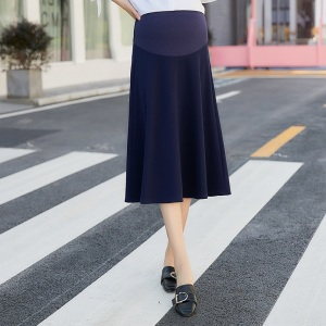 Image 4 - 2020 new fashion Korean version of the stretch maternity skirt stomach lift skirt skirt dress