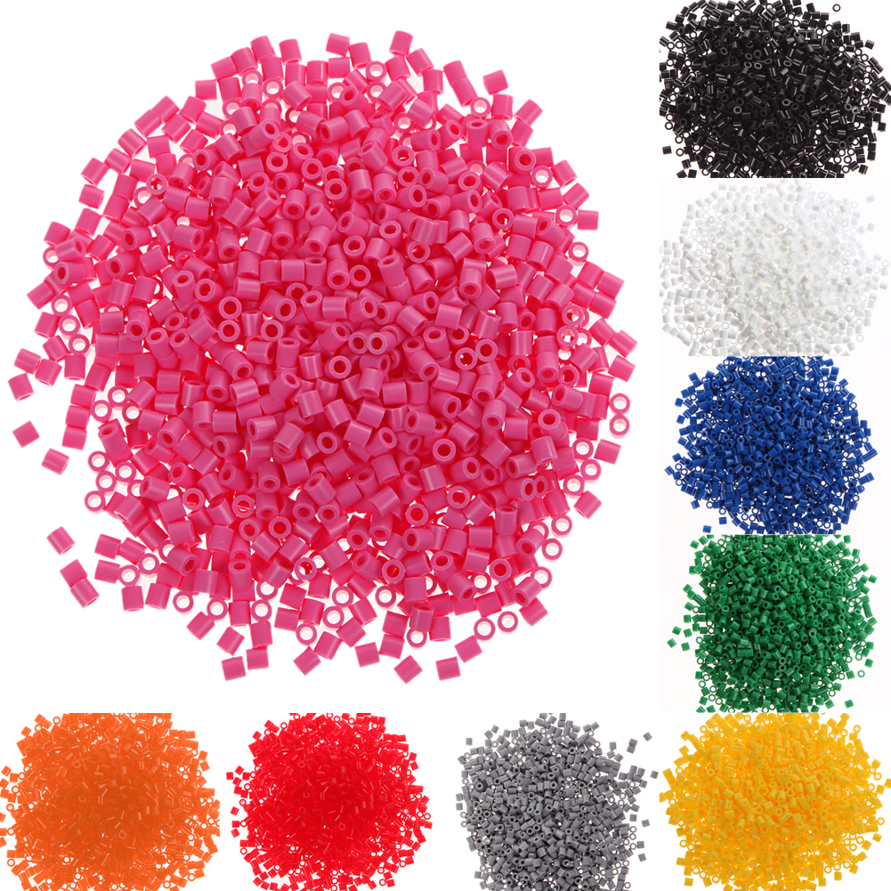 1000pcs/Lot 5mm EVA Hama/Perler Beads Toy DIY Handmaking Fuse Bead Multicolor Creative Educational Toy Gift Bady Toys Craft
