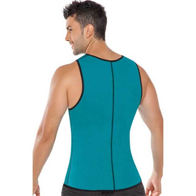 Men Shapers Ultra Sweat Thermal Muscle Shirt Neoprene Belly Slim Sheath Female Corset Abdomen Belt Shapewear Zip Tops Vest S2 1