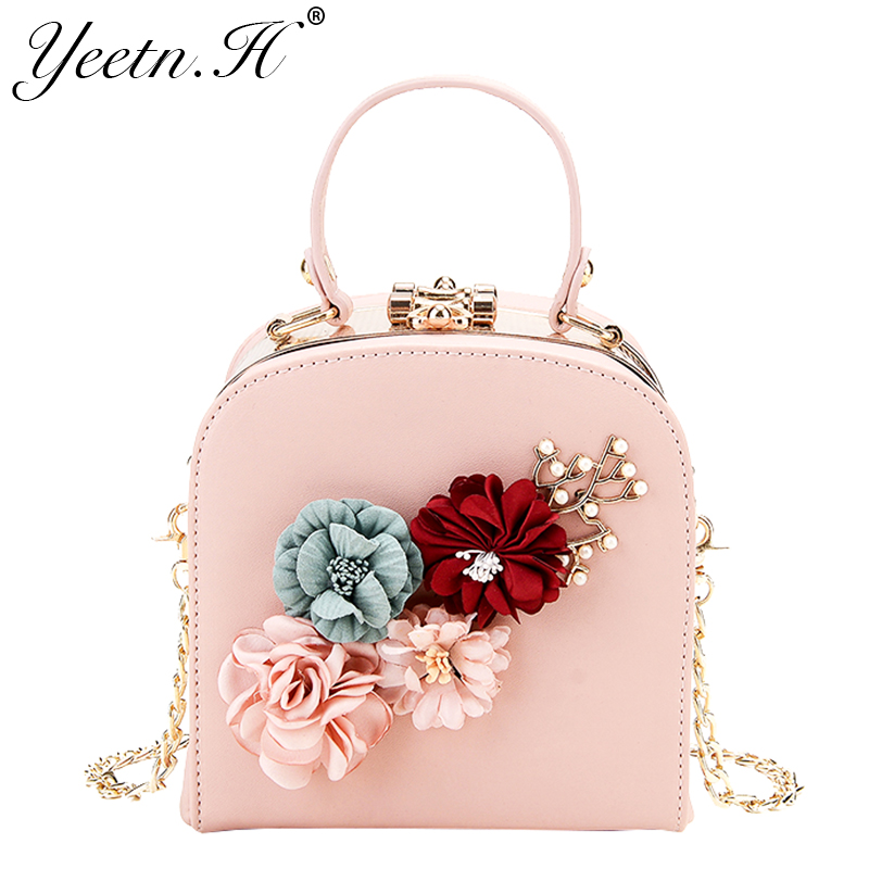 Yeetn.H New Arrival Woman Handbag Fashion Shoulder bag Flowers Flap Causal Tote bag PU leather bag For Women Drop shipping M868