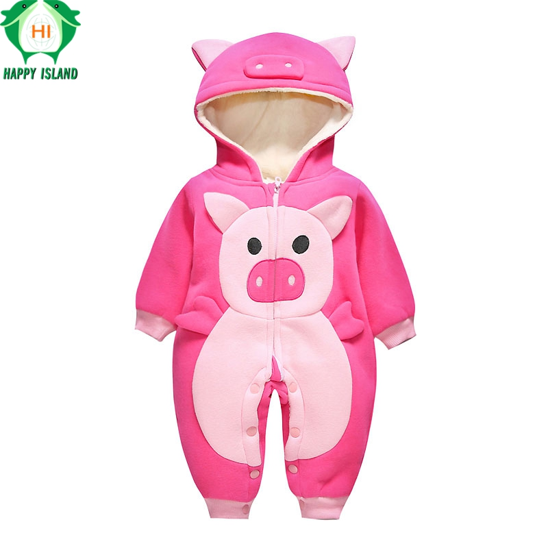 Cute Autumn Winter Cotton Polyester Baby Romper Long Sleeve Coverall Hooded Infant Jumpsuit Kawaii  Shaped One Piece for Toddler auro mesa christmas baby romper elk print jumpsuit cotton infant coverall outerwear baby boys hooded one piece clothes