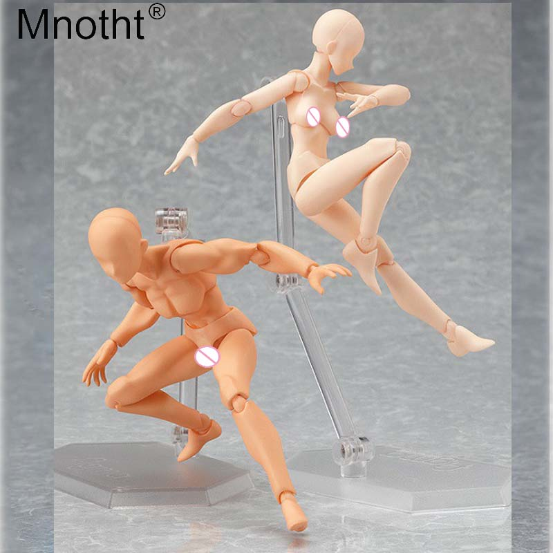 Mnotht 1/6 Doll nude action figure moveable body female/male parts Model skin coloer Toy For 12'' soldier collection ma zh005 1 6 scale knights of malta ancient medieval action figure soldier type 12 figure body for collection gift