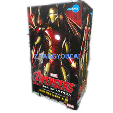 Iron Man Mark 43 1/6 Scale Pre-painted Model Kit with LED Light PVC Action Figure Collectible Model Toy 12″ 30cm  zy011