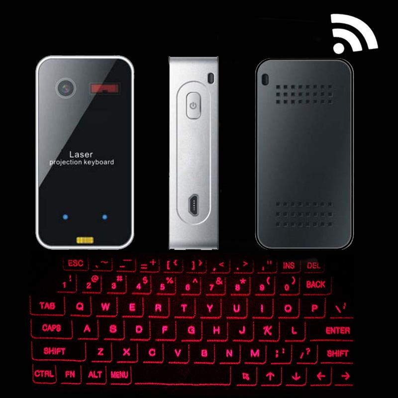 Prix pour 10 pcs Bluetooth Portable Virtuel Projeté De Projection Laser Clavier et Souris Sans Fil Clavier pour téléphone Tablet PC Portable