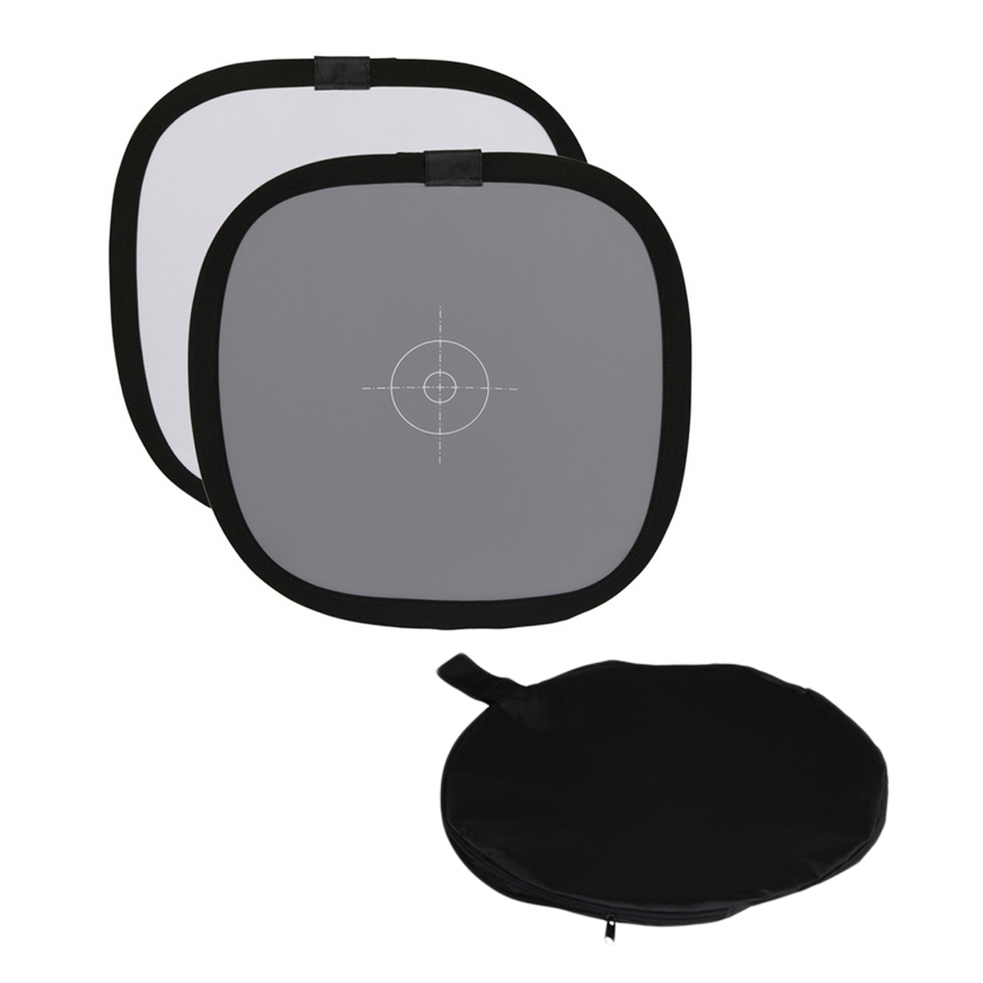 "Centechia 12 "" Inch 30cm 18% Foldable Gray Card Reflector White Balance Double Face Focusing Board With Carry Bag"