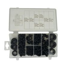 180 Pcs Round Rubber Grommet Assortment Set: Electrical Conductor Gasket Ring Tool for Cables, Plugs & Wires