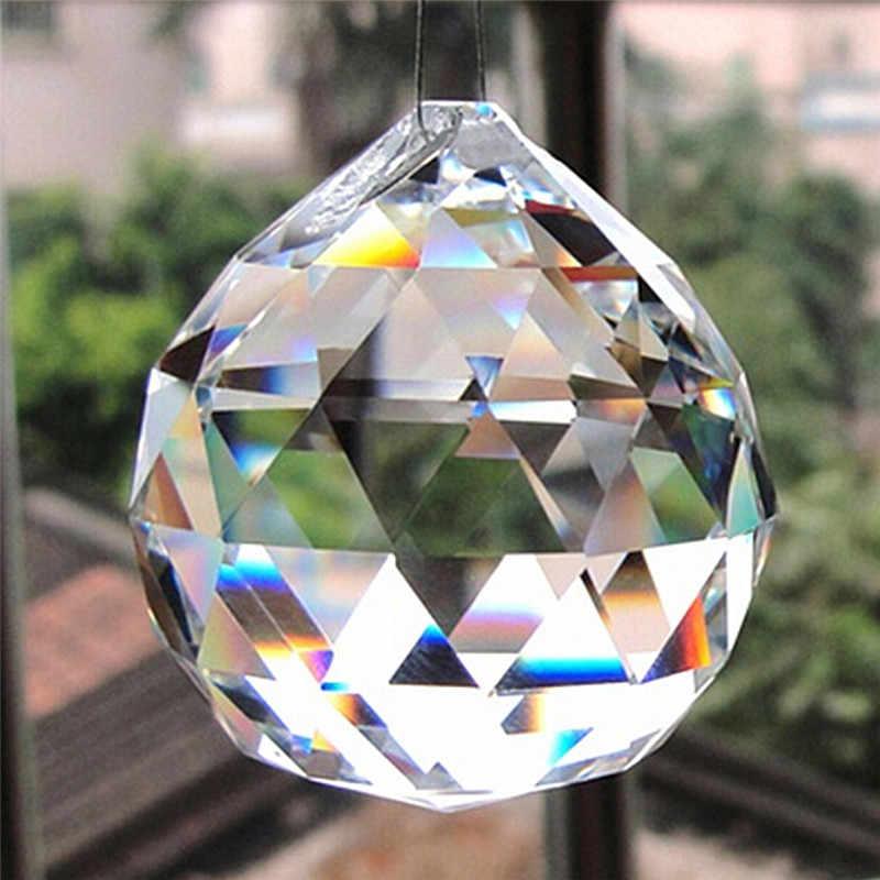 Trasparente 20 millimetri Sfera di Illuminazione Suncatcher più nuovo di Vetro Sfaccettato Sfera di Cristallo Prisma Lampadario di Cristallo Parti Ciondolo Appeso