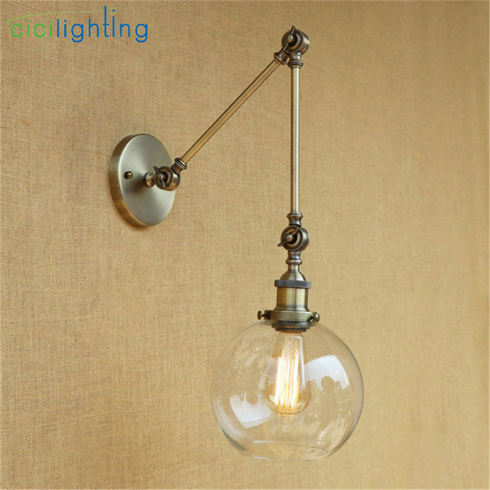 2017 NEW Bronze wall lamp industrial wall art home lighting Vintage ...