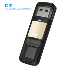 DM PD061 USB2.0 32GB U Disk Storage Device Flash Drive Pen Drive with Fingerprint Encryption Function Golden / Sliver Color