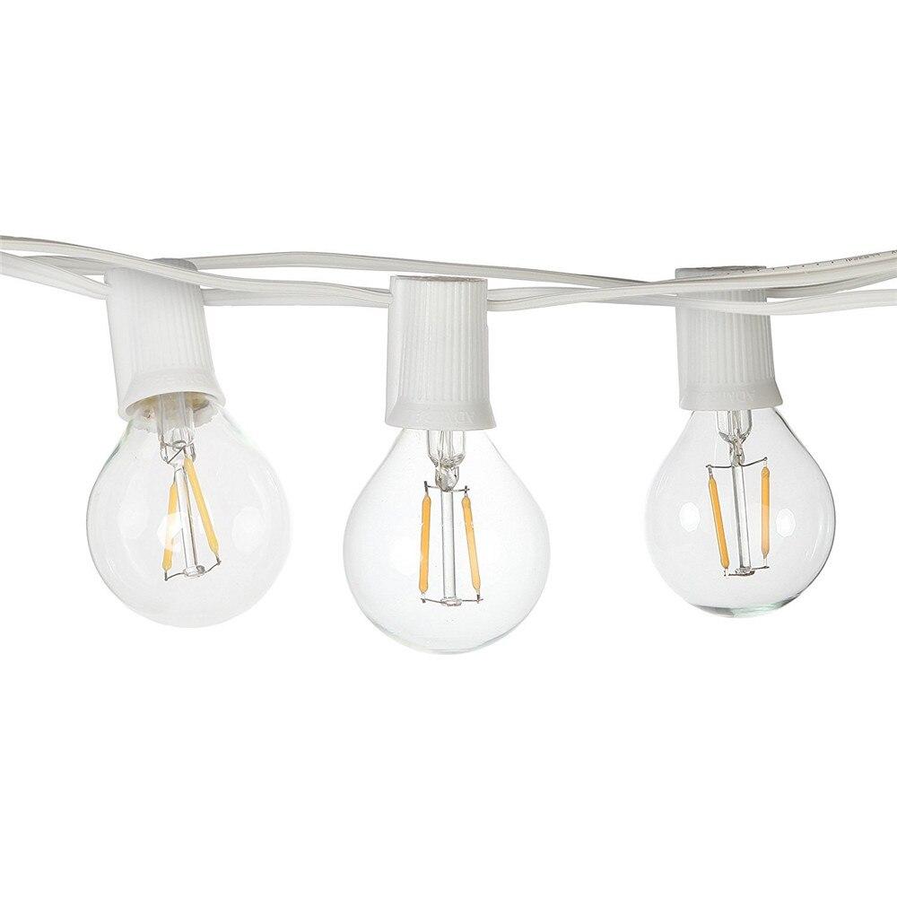 New Holiday Globe String Light E17 LED Bulbs Romantic Wedding Lights 26ft 7.92meters 25Bulbs Waterproof String Light Set