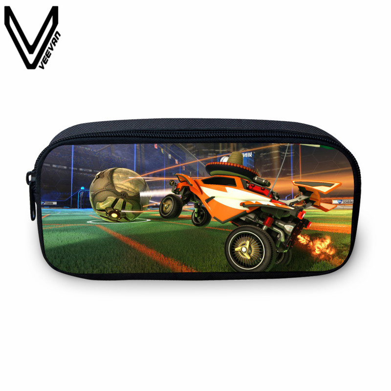 VEEVANV 2017 New Fashion Rocket League Prints Small Case Students Study Box Casual Make Up Bags Cases For School Kids