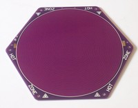 Kossel Delta Rostock 3D printer Purple 170mm/180mm PCB hot bed hexagonal hot bed 12V 100W with thermistor
