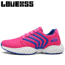 LOVEXSS Fall2017 Breathable Mesh Running Shoes For Women Men Lovers Sport Run Athletic Shoes Man Brand Outdoor Women's Sneakers