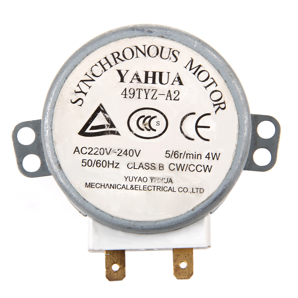 1Pc X Microwave Motor CW/CCW 4 W 5/6 RPM AC 220-240V Rotary Table Synchronous 49TYZ-A2