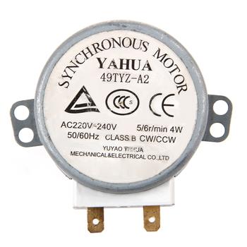 1Pc x silnik mikrofalowy CW CCW 4 W 5 6 RPM AC 220-240V stół obrotowy synchroniczny 49TYZ-A2 tanie i dobre opinie MEXI CN (pochodzenie) Części kuchenka mikrofalowa other