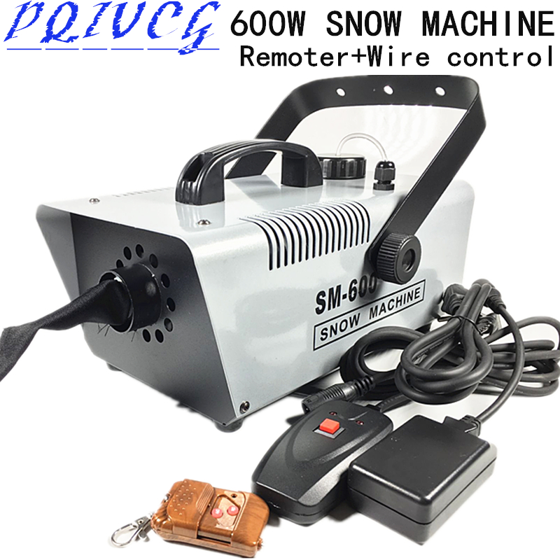 2018 new Remoter Wire control 600W snow machine wedding snow machines professional DJ equipment 100 new