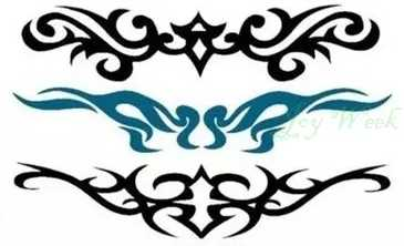 Etiqueta Do Tatuagem Temporária à prova d' água da cintura vines totem pescoço menina adesivos tatto flash tatoo tatuagens falsas