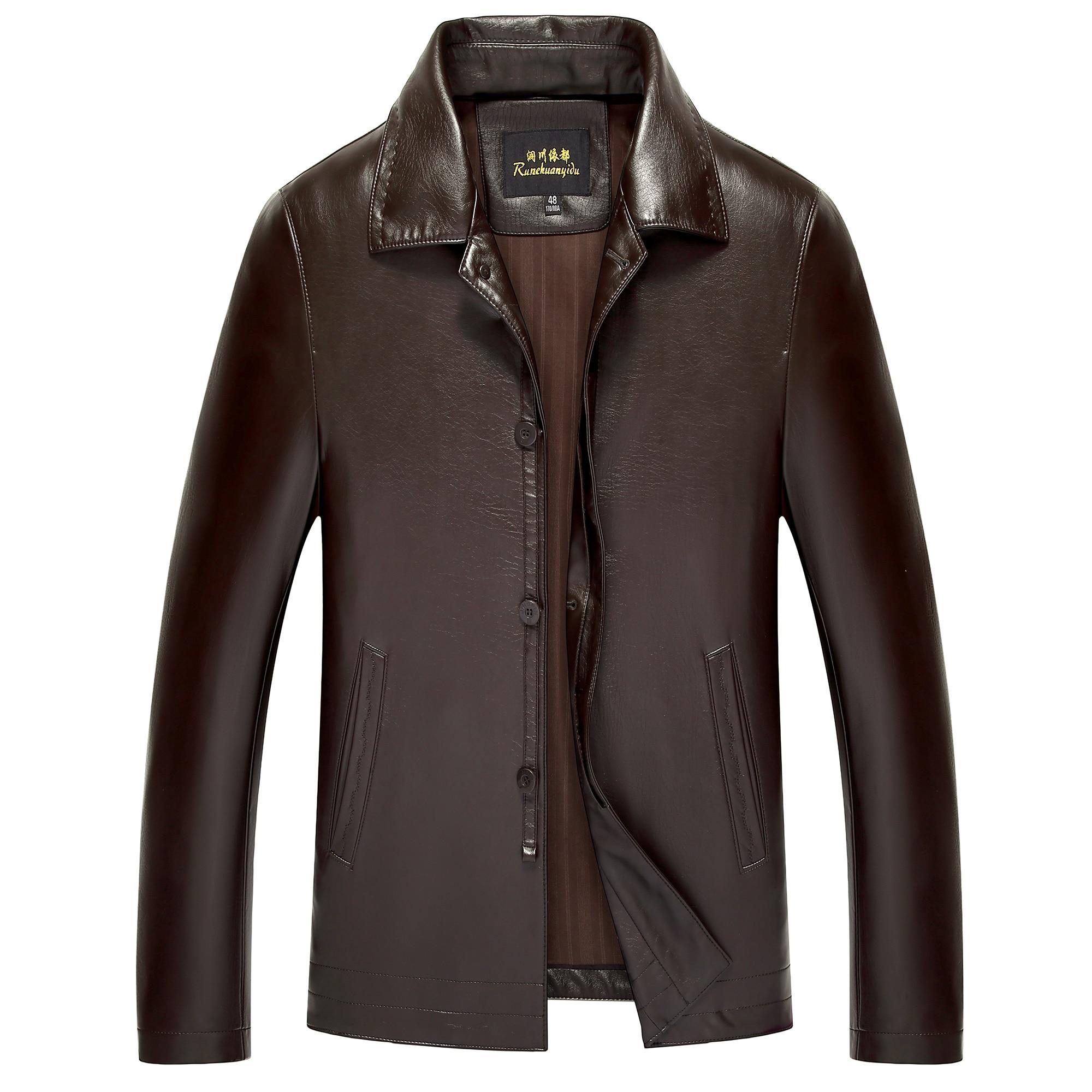 8853 New Fashion Men Clothing Spring &Autumn Genuine Leather Jacket Coat Sheepskin Men Leather Coat