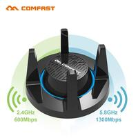 Comfast AC1900 Wirless Gigabit E Sports Network Card WiFi Adapter USB 3.0 1900Mbps Dual Band 2.4G/5.8G 4x3dBi Antennas for Games