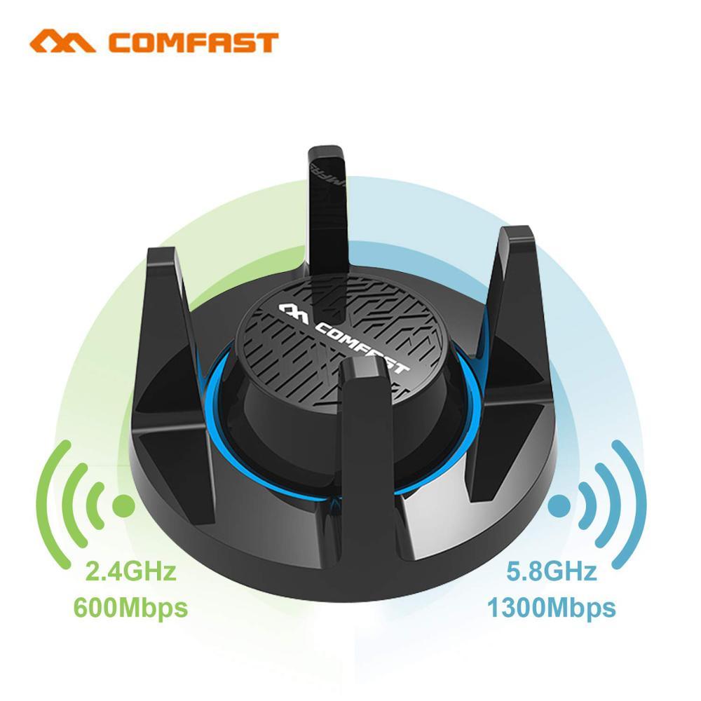 Comfast AC1900 sans fil Gigabit e-sports carte réseau WiFi adaptateur USB 3.0 1900 Mbps double bande 2.4G/5.8G 4x3dBi antennes pour jeux
