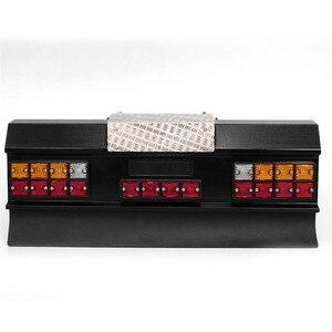 Image 4 - Светодиодный фонарь заднего сигнала, модифицированный для автомобиля, квадратный, с задним бампером для тамии, все 1/14, для Man, Скания R620, R470, RC, автозапчасти