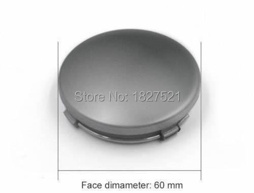 20шт высокое качество автомобилей 60 мм 6 см Цвет Серый колесо Центр колпаки ступиц Крышка подходит для 4B0601170