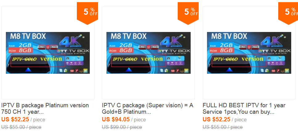 US $55 0 |IPTV B package Platinum version 750 CH 1 year buy use usAndroid  set top box Supprot good qc-in Set-top Boxes from Consumer Electronics on