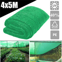 13x 16.4Ft Plastic Sunblock Shade Cloth Green Plant Cover Greenhouse Barn Sunshade Cover Shelter Garden Patio Orchard Supplies