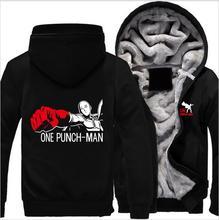 00米国サイズワンパンチの男saitamaコートジッパーパーカー冬フリース厚みのジャケットclothing