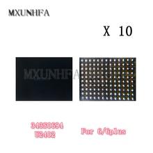 10 piezas U2402 controlador de pantalla Reball para iPhone 6 Plus, 6G negro Meson táctil ic 343S0694 Control de la viruta reemplazo