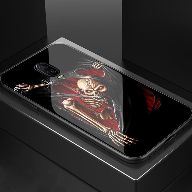3D SKULL LUXURY TEMPERED GLASS ONEPLUS PHONE CASE (9 VARIAN)