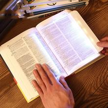 Eye Protection LED Paperback Book Light Bookmark Reading Warm Soft On The Bed Tablet Lamp