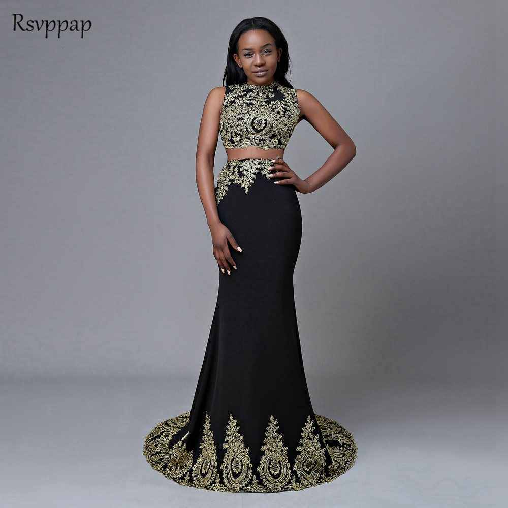65935ee84010 Detail Feedback Questions about Original Picture Long Prom Dresses 2019  Mermaid Top Lace Floor Length African Black Two Piece Prom Dress on  Aliexpress.com ...