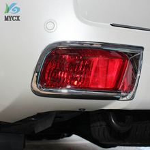 ABS chrome design Fit for toyota prado FJ 150 accessories fog light cover fit toyota fj150 2010-2013 rear fog lamp cover trim цена