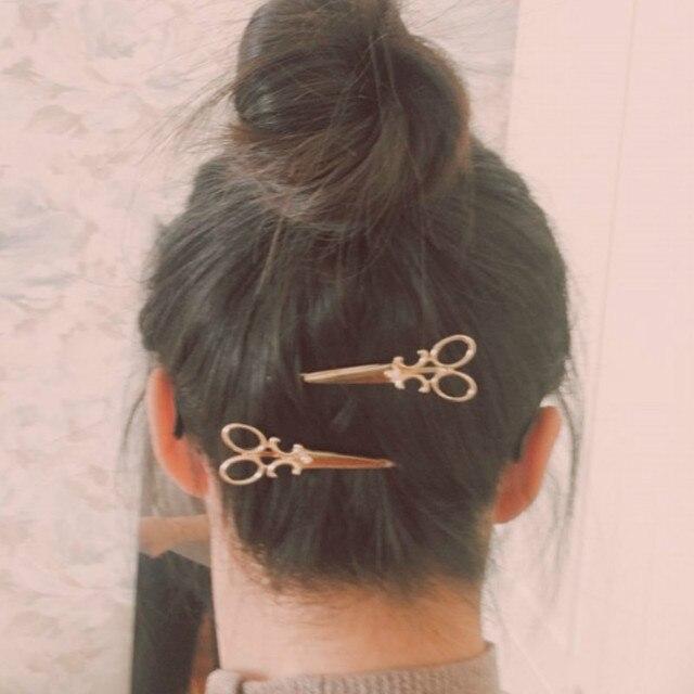 1 pz versione Coreana del semplice accessori per capelli analogico forbici personalità tornante gioielli retrò di modo copricapo clip
