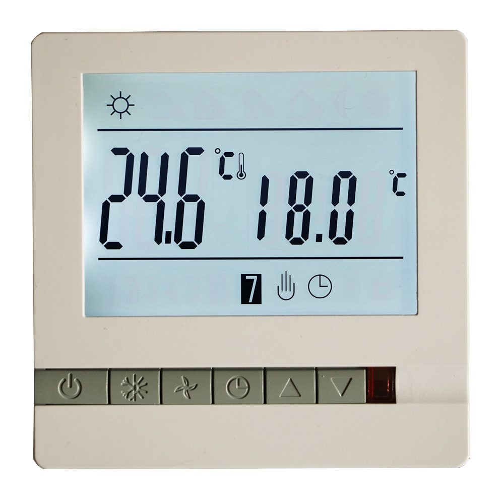 Heating Thermostat Us 14 19 29 Off 16a 230v Floor Heating Thermostat Room Temperature Controller Weekly Programmable Lcd Blue Screen Electric Heating Thermostat In