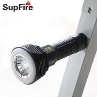 Supfire D10 CREE LED High Power פנס לפיד אור קמפינג מנורה חיצונית אור העבודה טקטי מחפש פנס כורה S039