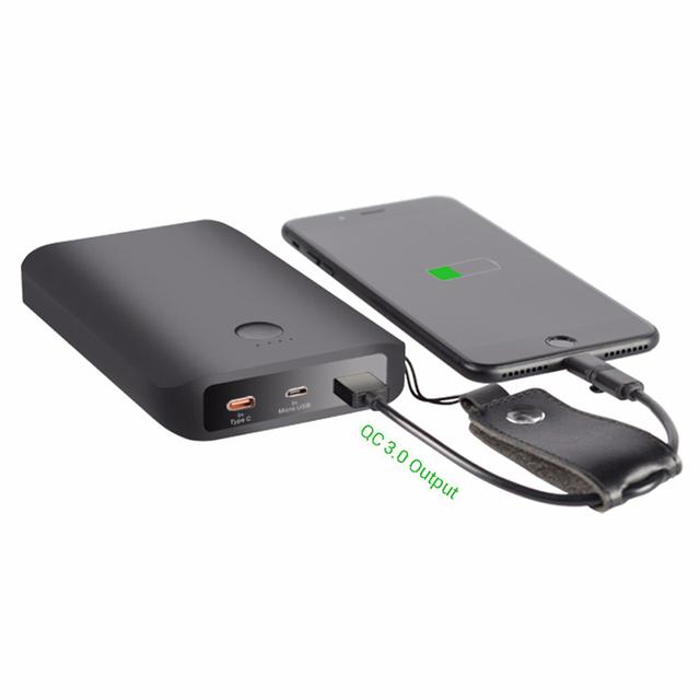 5 pc/lote A5 12500 mAh QC 3.0 Mini Portátil Power Bank Carregador de Bateria Externa para iphone 7 7 plus 6 s 5 5S 5c tipo c micro usb porta
